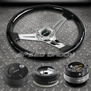 NRG Black Steering Wheel Hub Black Quick Release lb Lock Kit 96 11