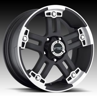 18 inch 6x135 Black Warlord Wheels Rims 6 Lug Ford F150 Expedition