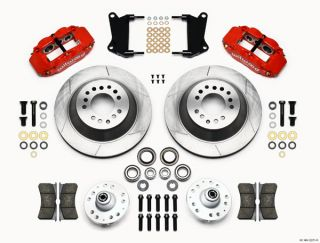 Wilwood Disc Brake Kit 64 74 GM 13 12 1 Piece Rotors 6 4 Piston Red