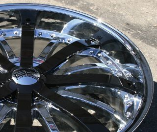 Giovanna Gello 24 Chrome Rims Wheels GMC Envoy 6x127