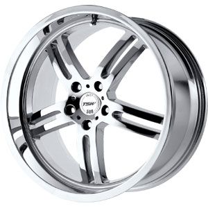 New 18x8 5x120 TSW Indy 500 Chrome Wheel Rim