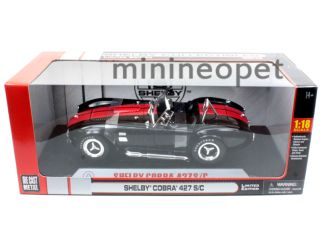 Collectibles 1965 Shelby Cobra 427 s C 1 18 Diecast Black w Red