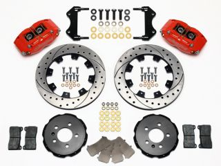Wilwood Disc Brake Kit Front Audi Volkswagen Red Calipers 12 Drilled