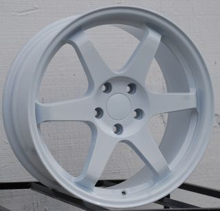 ES221 5x100 White Wheel Fit Subaru GD8 GB Impreza WRX Rims