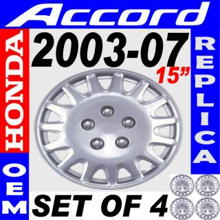 Piece Set Fits 2003 2004 2005 2006 2007 Honda Accord 15 Wheel Hub
