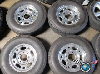 99 09 Chevy GMC HD 2500 Factory 16 Polished Wheels Tires OEM Rims