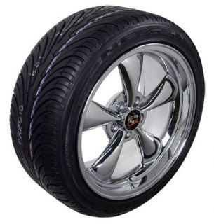 Chrome Bullitt Bullet Style Wheels Tires Rims Fit Mustang® GT