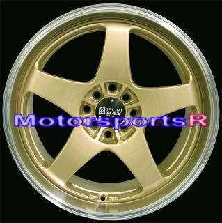XXR 962 Gold Machine Lip Staggered Rims Wheels Nissan 240sx S13