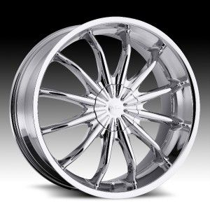 22 in Milanni Baron Chrome Wheels Rims 5x4 25 5x108 40