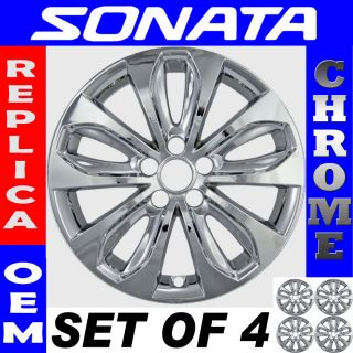 PC Set 18 11 12 Hyundai Sonata Chrome Wheel Skin Hubcaps Cover Hub