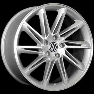 19 VW Jetta Passat CC Golf GTI EOS Wheels 5x112 19x8 5 Silver Machine