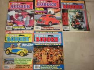 Popular Hot Rodding Street Rodder Magazine Back Issues
