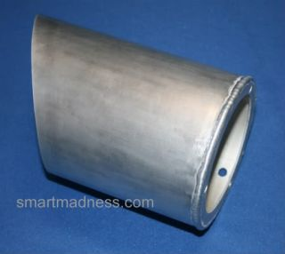 Smart Car RAM Air Intake Powder Coated in Silver