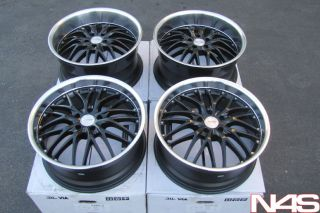 Used 20 Lexus SC430 MRR GT1 Black Staggered Rims Wheels