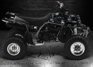 Yamaha YFZ350 Banshee ATV Graphics The Gears of Death Blue Model