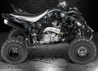 Yamaha Raptor 700R 700 ATV Graphics The Gears of Death White Model