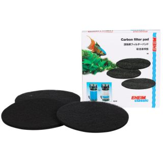 EHEIM Classic Replacement Carbon Filter Pads   3 Pk   Filter Media   Fish