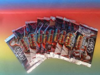 TOPPS Star Wars Force Attax 10 Päckchen insg. 50 Trading Cards