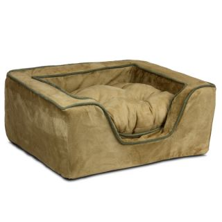 Snoozer Luxury Square Pet Bed   Camel