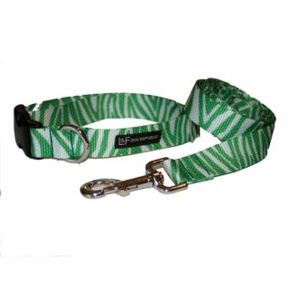 Lola & Foxy Nylon Dog Collars   Zebra   Green