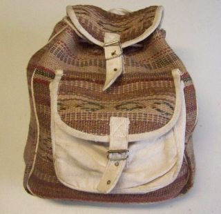 India Jute Rucksack Big Bag Hippie Hippy Indien Goa Nr. 23