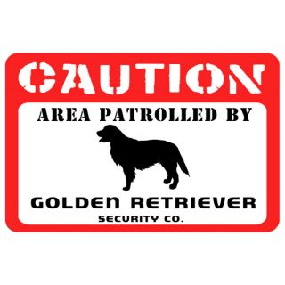 Bungalow Printed Caution Golden Retriever Pet Mat   Dog   Boutique