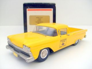 WESTERN MODELS 1/43 WMS 53X 1959 FORD RANCHERO YELLOW