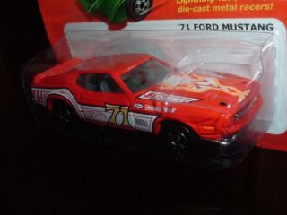HW Hot Ones 71 Ford Mustang RED Hot Wheels racer 2011