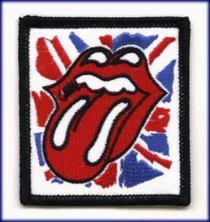 AUFNÄHER PATCH AUFBÜGLER ROLLING STONES ENGLAND ZUNGE TONGUE ROCK
