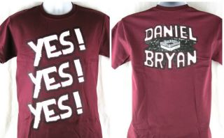 Daniel Bryan Yes Yes Yes Maroon Red T shirt New