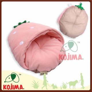 Princess Pink Pet Dog Cat Soft Bed House Strawberry Shaped Sleeping