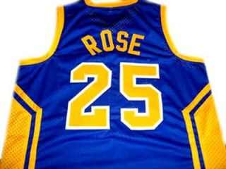 DERRICK ROSE SIMEON HIGH SCHOOL JERSEY BLUE   ANY SIZE