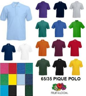Herren Poloshirt Fruit of the Loom 65/35 Pique Polo neu S M L XL 2XL
