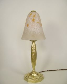 RANC et SCHNEIDER  LAMPE ART DECO french lamp bronze muller era