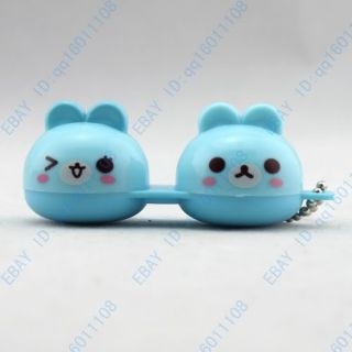 Cute animal Faces Contact Lens Case Holder Box C28