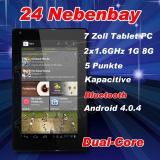 Tablet PC Dual Core CPU QUAD CORE GPU Android Kapazitiv hdmi WLan 727