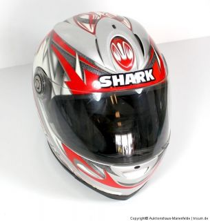 SHARK Integralhelm Nexus RSF2 Race Silber Metallic Gr.XS rot/weiss