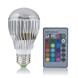 E27/B22/MR16/GU10 4W 9W Remote Control Color Changing LED Light Bulb