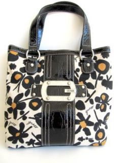 Guess Floral Prints Small Tote Handbag Purse, Black