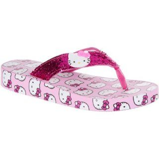 Hello Kitty Glitter Strap Girls Flip Flops
