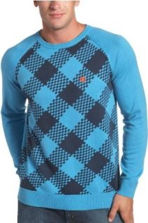 DC Mens Hamburg Crew Neck Sweater,Swede Blue,Small