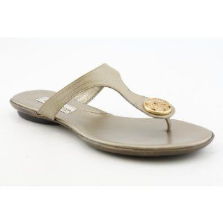 Womens SZ 8.5 Gold Gold New Leather Flip Flops Sandals Shoes Shoes