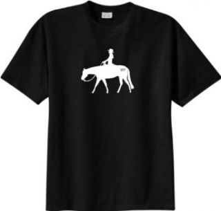Western Pleasure WP Brand Horse & Rider Blue T Shirt