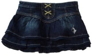 Baby Phat   Kids Girls 2 6x Denim Skirt, Dark Wash, 4