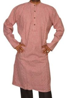 Mens Casual Cotton Khadi Long Kurta Fabric For Winter