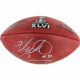 Victor Cruz Autographed Super Bowl XLVI Football Sports