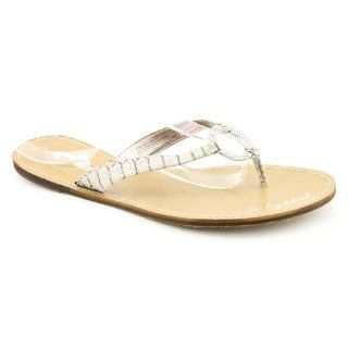 Lia Open Toe Flip Flops Sandals Shoes Brown Womens New/Display Shoes