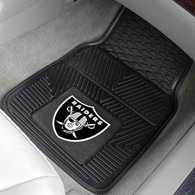 Oakland Raiders NFL Heavy Duty Vinyl Front Seat 2 Piece