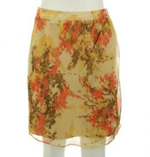 AK Anne Klein Womens Autumn Floral Printed Skirt