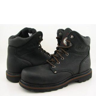 G6320 6 Safety Toe Boots Work Steel Toe Shoes Black Mens Shoes